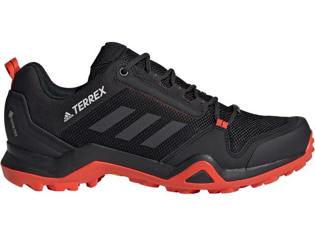 adidas TERREX AX3 Gore-Tex Obuwie turystyczne Wodoodporne Mężczyźni, core black/carbon/active orange